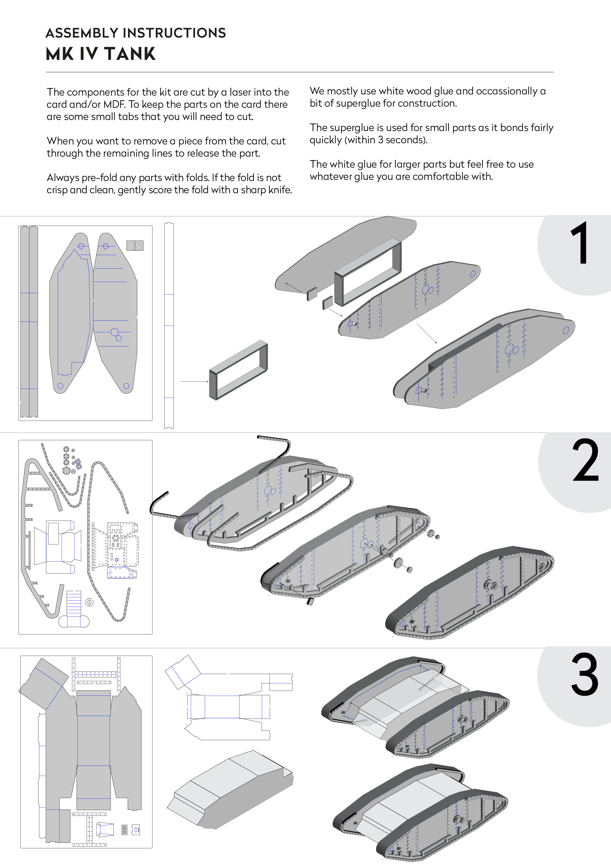 Laser Cut Card Assembly Instructions